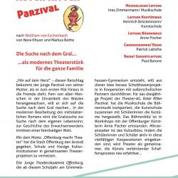 Roter Ritter Parzival 2012 - Flyer Rückseite